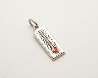 Vintage Sterling Thermometer WOW Charm