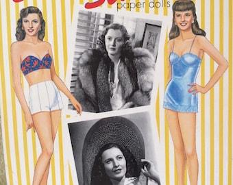 "PaperDolls ""BarbaraStanwyck"" PaperDollCutouts, Girls'Dolls,VintagePaperDoll, WomenOfTheTheSilverScreen, NostalgiaToys"