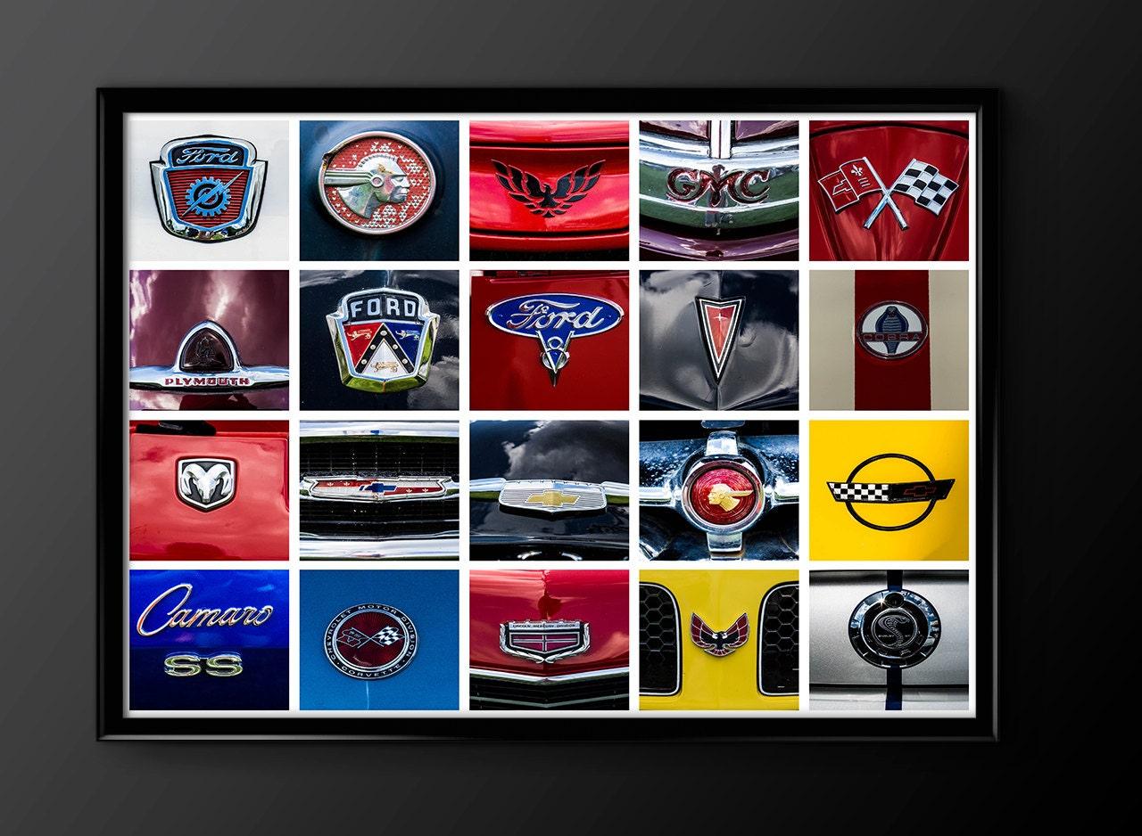 Hot rod classic car print car logos car emblems garage zoom biocorpaavc Images