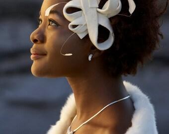 Velour Freeform Wedding Fascinator Headpiece