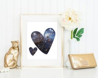 Heart Print / Nebula Print / Galaxy Print / Science Print / Universe Print / Space Print / 5x7, 8x10, 11 x 14, 13x19 / Romantic Print