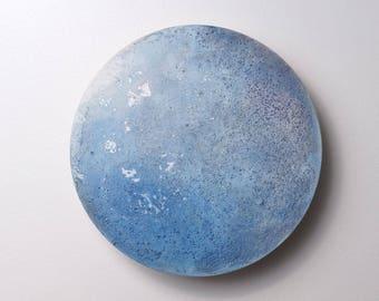 Moon Disk - 15 | Moon Wall Art, Texture, Blue Moon, Moon Decor, Space Decor, Moon Painting, Painted Moon, Meteor, Space Rock, Moon Rocks