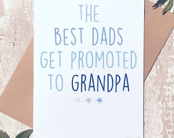 Card for dad, Birthday Card for Dad, Card for Grandpa, Father's day card, card for him, Fathers day card, Card for men