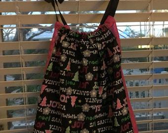 Christmas Pillowcase/Bandana Dress for Girls