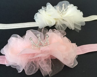 SALE,Crown Headband,Little Girls Headband,Birthday Headband,baby shower gift,first birthday,party headband,1st birthday,birthday party,party