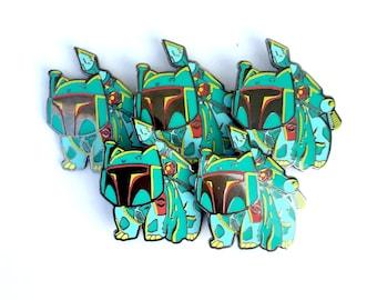BULK DEAL Bulba Fett  geek mashup collectors hat pin 5-pack