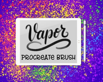 Vapor lettering brush for Procreate