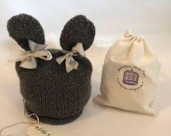 Cashmere Bunny Hat - Newborn