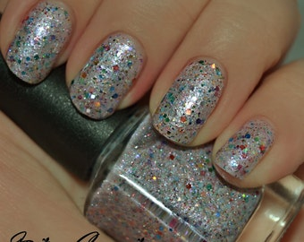 Club Hopping - Multicolored Holographic Glitter Nail Polish LIMITED EDITION