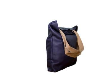 Mini tote leather bag