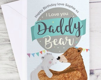 Personalised Father's Day card, card for daddy, dad , father, 1st Father's Day card, personalised card