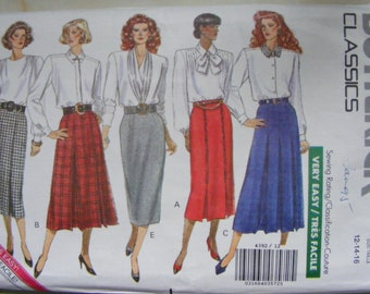 1980s very easy skirt pattern Butterick 4392 size12 - 14 - 16 unused