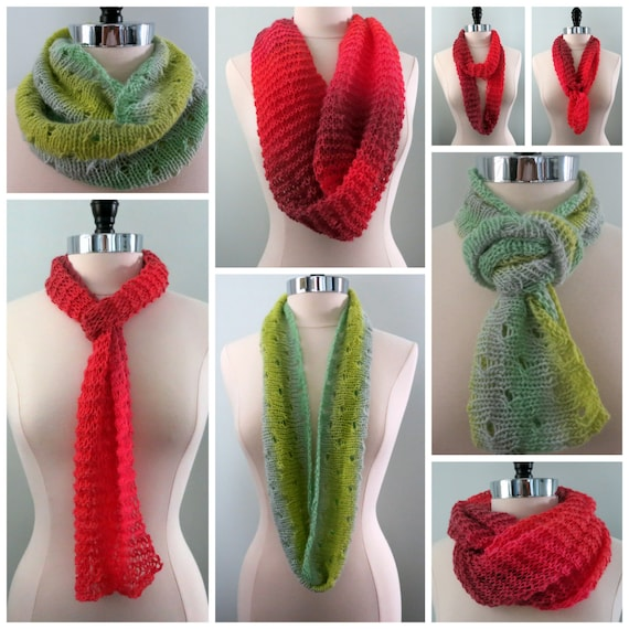 Beginner Scarf Knitting Pattern For Three Scarves