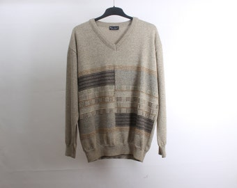 80s • Vintage • Men's Jumper • V-Neck Jumper • Vintage Sweater • Men's Winter Jumper • Men's pullover • Winter Sweater • Vintage Pullover