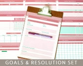 Items similar to goals planner new years resolutions 9 printable goals planner new years resolutions 9 printable templates editable pdf forms a4 and letter size instant download spiritdancerdesigns