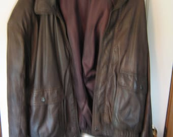 Fidelity Brown leather jacket size 42 regular
