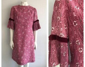 Vintage 1960's Pink Floral Dress