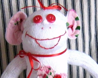 Sock Monkey Valerie Valentine