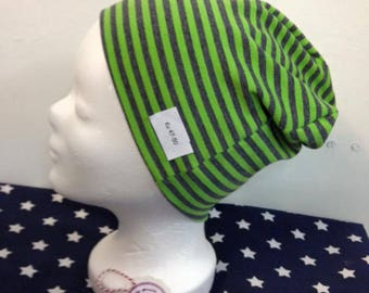 Bernie gray/green striped