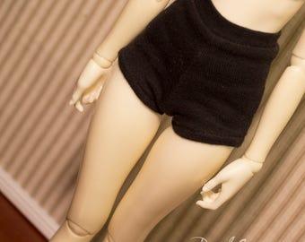 Black High waist shorts for MSD and Minifee BJD