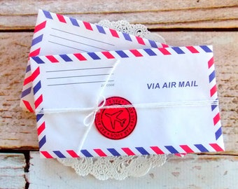 Vintage Airmail Postal Envelopes