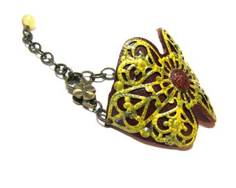 Leather Bohemian Cuff yellow Filigree Hippie Jewelry Top Selling Jewelry Red Tribal Ethic Yellow Cuffs for Women gift for her gift
