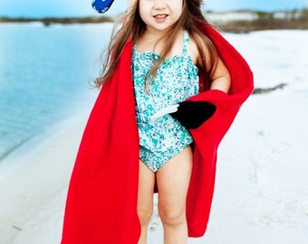 Puppy Pirate Towel - Kids Hooded Towel - Boys Pirate Birthday - Pirate Gift - Zoochini Towel - Hooded Beach Towel - Boy Birthday Gift