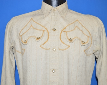 50s Levis Western Pearl Snap Cowboy shirt Small