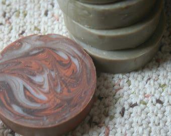 Shaving Soap Pucks - Patchouli Lime, Citrus Pine, Fireplace Embers, Coconut Lime, Sandalwood Patchouli, Dragon's  Blood