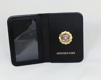 Courtesy shield wallets with badge
