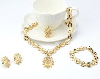Crystal Bridal Jewelry Set, Wedding Jewelry Set, Crystal Jewelry set, Prom Jewelry set, Wedding earring, Bridal necklace