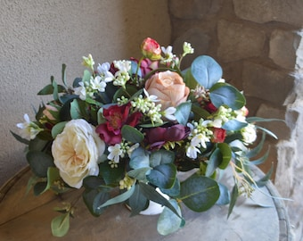 Reception Centerpiece, Silk Centerpiece, Floral Centerpiece, Wedding Centerpiece, Table Top Centerpiece,