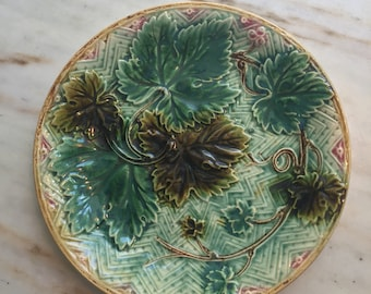 Antique Majolica Plate From France