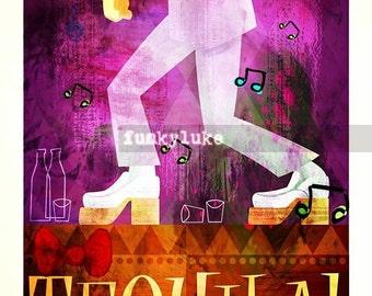 Pee Wee Herman's Dancing Shoes TEQUILA  Print