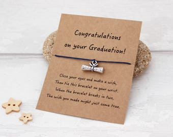 Gift for Graduate, Graduation Gift, Wish Bracelets, Graduation Wish Bracelet, Graduate Gift, College Graduation Gift, Graduation Charm