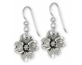 Dogwood Jewelry Sterling Silver Dogwood Earrings Handmade Flower Jewelry DGW2-E