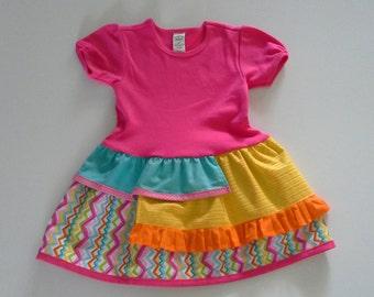 T-shirt Dress, Girls Clothing, Toddler Clothing, Size 4T