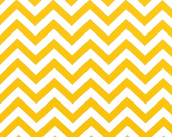 1 Yard Yellow Chevron,  Premier Prints ZigZag Corn Yellow White Twill Zig Zag - Home Decor weight