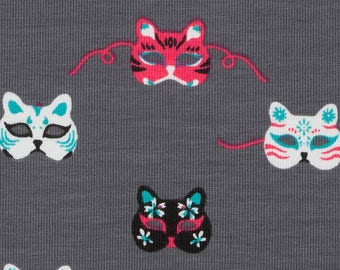 Cat mask fabric, jersey. SK220