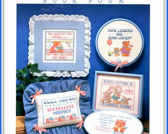 Funny Sayings for Women Counted Cross Stitch Pattern, Witty Women Book Four, Linda Gillum Design 1986 Dimensions, Kitchen Decor Gift for Mom