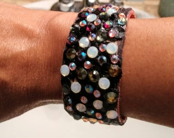 Sparkles Leather Cuff!