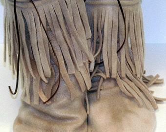 Fleece Moccasin Slipper Boots pdf Sewing Pattern