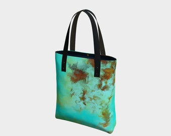 Turquoise 1-1,purse,bag,tote,hand painted,designer,makeup,bags,cases,suitcase,vegan leather,luggage,baby