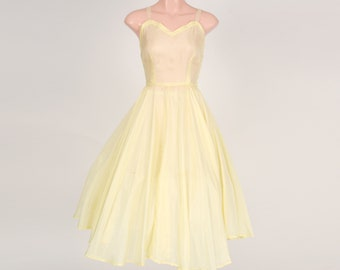 1950's vintage lemon undergarment dress