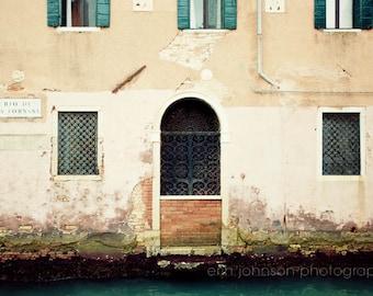 venice photography, venice canal, pink home decor, door photograph, architecture art, travel decor, V33