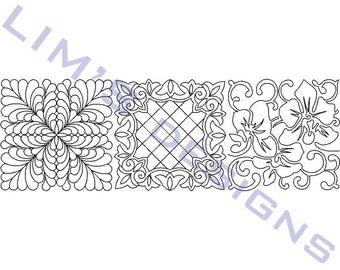 "Three Quilt Patterns N5 machine embroidery designs - 3 sizes 4x4"", 5x5"", 6x6"""