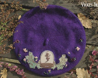 Purple Wool Beret · Fairy Cabinet · Classic Lolita and Otome Kei Beret · Autumn Collection ·