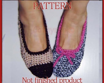 Stylish Flat Shoes, Slippers. Teenage - Woman sizes -   INSTANT DOWNLOAD Crochet Pattern
