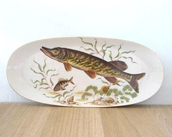 Vintage Mid Century Naaman Platter Underwater Fish Design