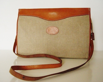 Vintage  Bag. Canvas and Leather